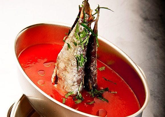 sardinillas con gazpacho