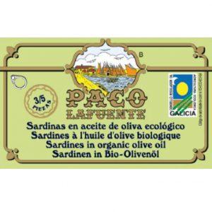 Sardinas en aceite de oliva ecológico