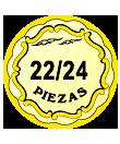 22/24 pieces