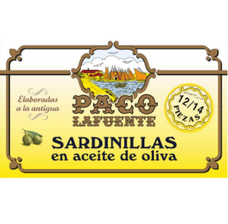 Sardinillas en aceite de oliva 12-14