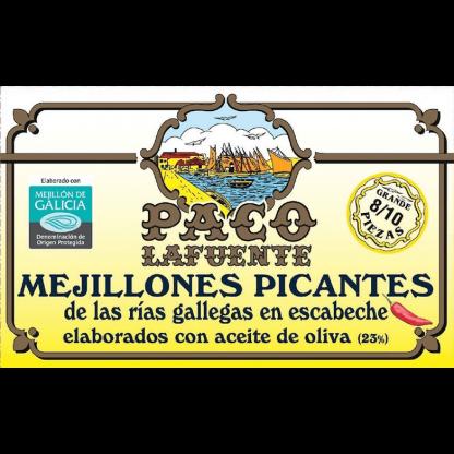Mejillones picantes de las Rías gallegas en escabeche